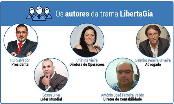 Autores da fraude LibertaGia