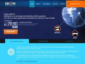 Página da BBOM, onde supostamente vendia os geolocalizadores.