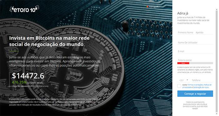 Como investir em Bitcoin na Etoro