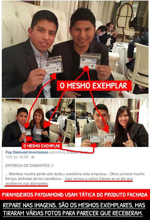 Numa das muitas conferências sobre a fraude PayDiamond burlões tiraram várias fotos com os mesmos diamantes de fachada. (copiado do tenhodividas.com))