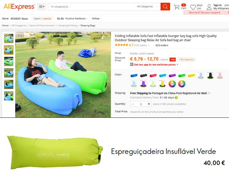 Diferença entre produto no Aliexpress e Negócio Multinível