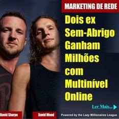 Mentira dos dois ex-sem-abrigo que viraram milionários no marketing multinível. Estratégia foi criada pelos Lazy Millionaires, numa fase de desespero para recrutar vítimas.