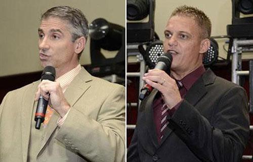 Os donos da mega fraude TelexFree: James Merrill (à direita) e Carlos Wanzeler (à esquerda). Durante 2 anos enganaram as pessoas com promessas de dinheiro fácil, disfarçadas de negócio de marketing multinível.