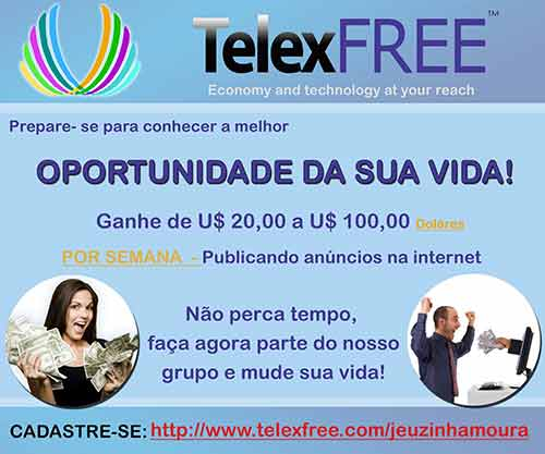 Uma das muitas formas de aliciar novas vítimas para a fraude TelexFree